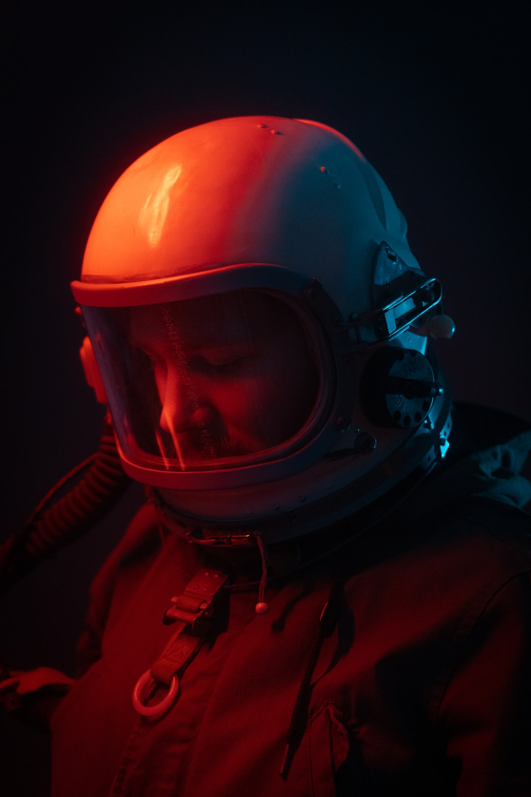 Astronaut in Red & Blue