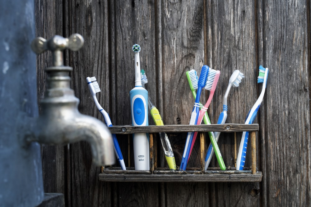 assorted-color toothbrush lot