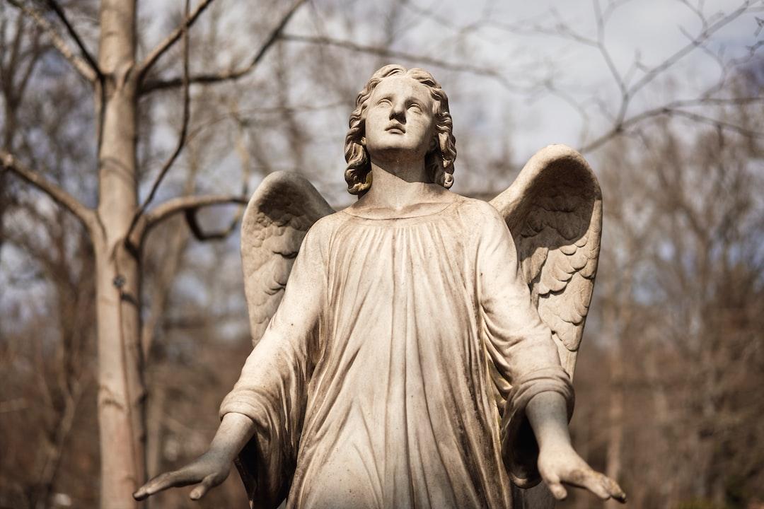 Angel statue on a graveyard in Kaiserslautern, Germany.