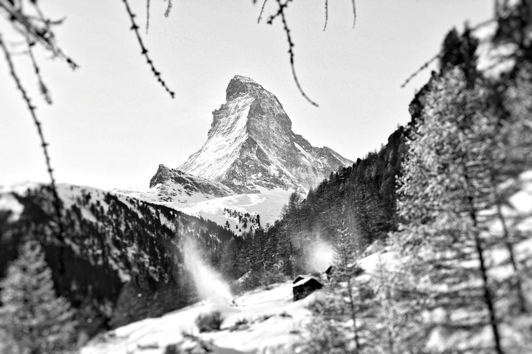 Zermatt in black and white.