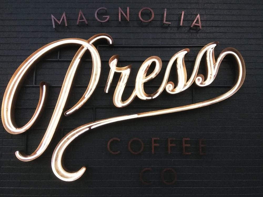 Magnolia Coffee Press sign