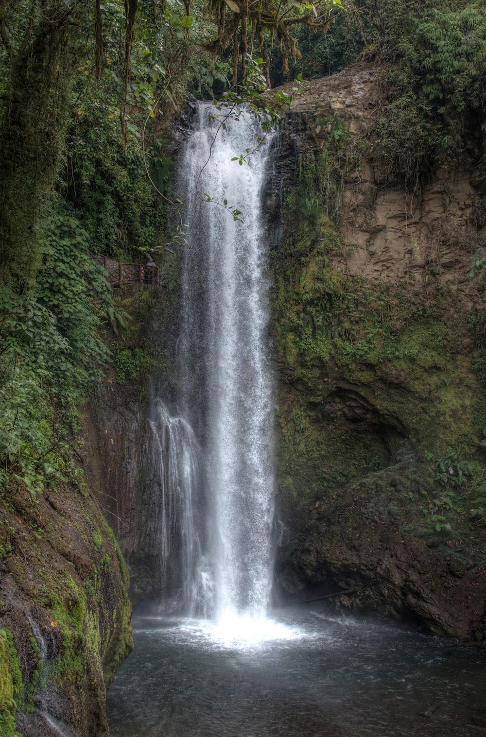 waterfalls view during daytime