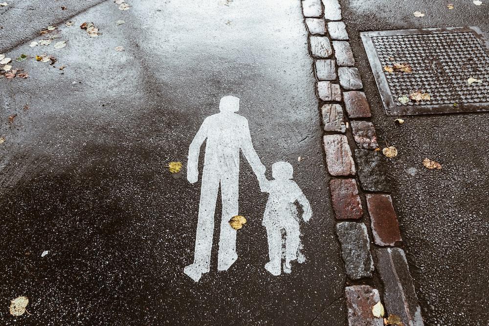 brown concrete pavement