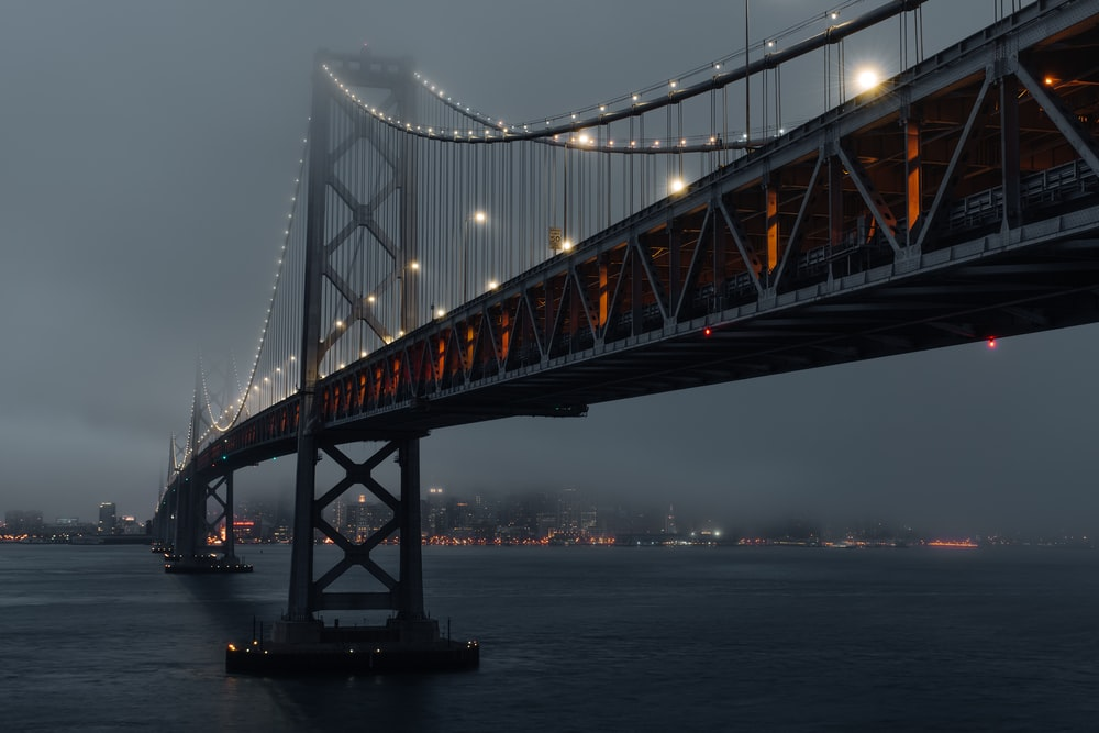 grey and black bridge