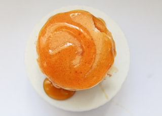 orange candy with syrup