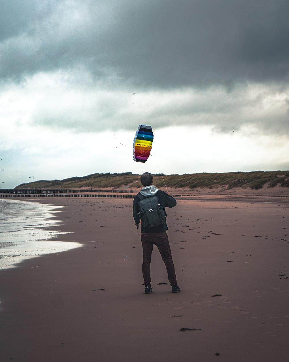 man near ocean