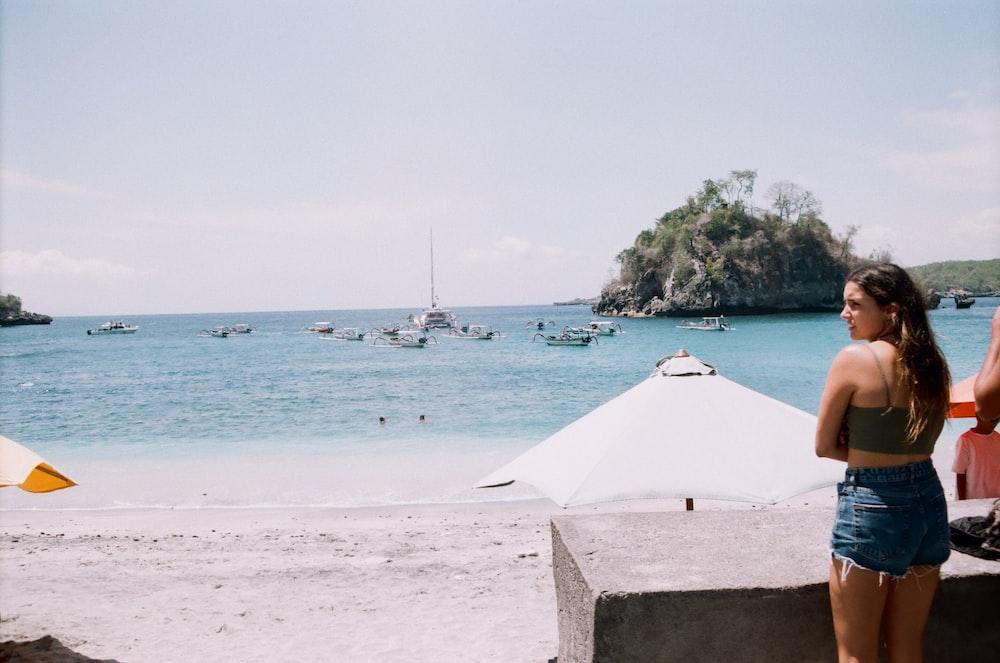 woman near ocean