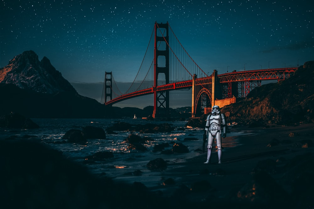 star wars character beside water
