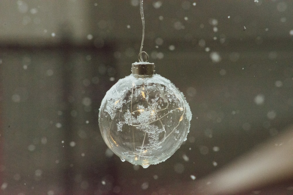 clear bauble close up photo