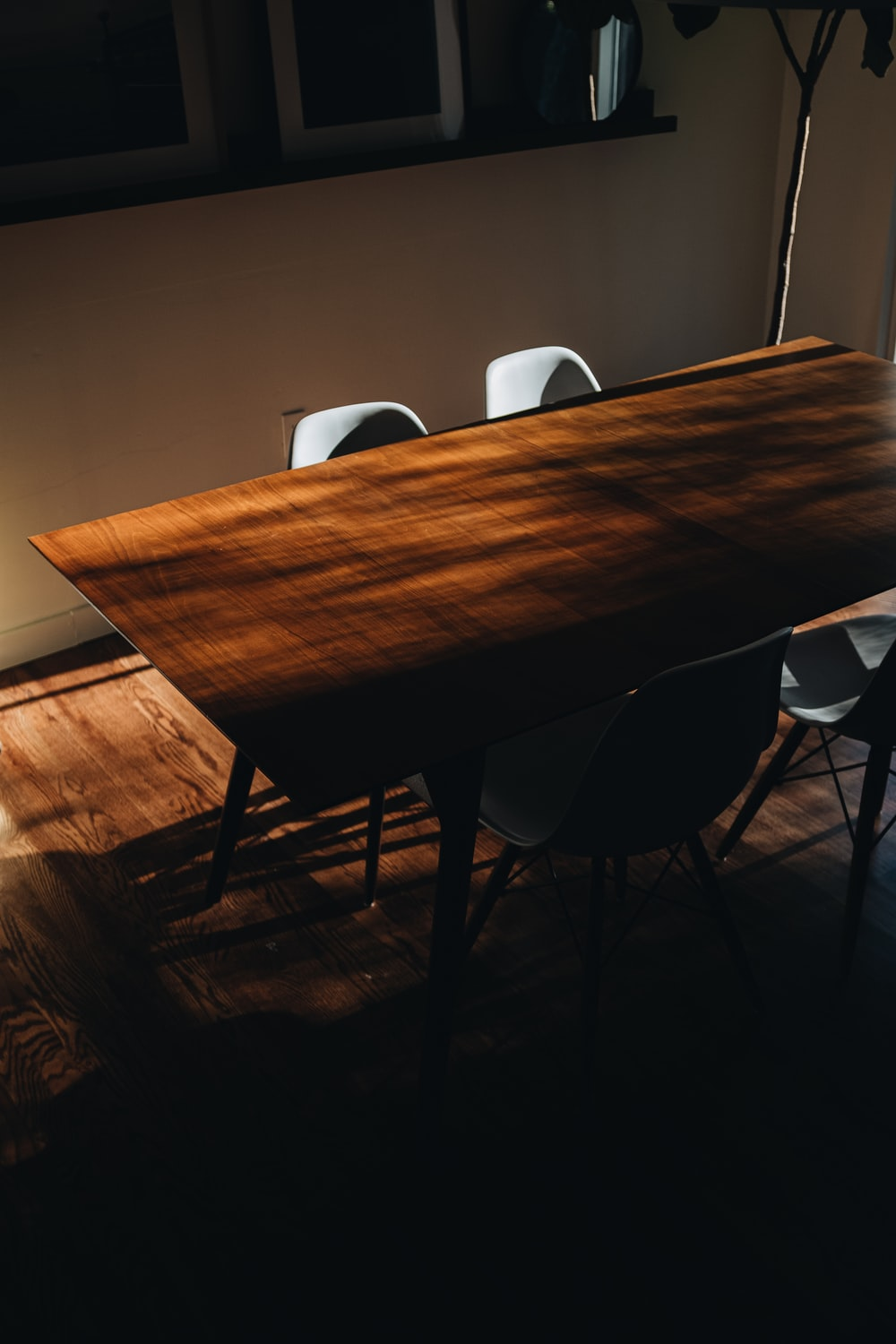 brown wooden table