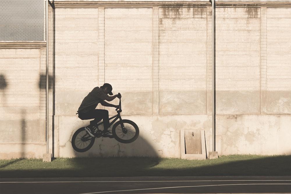 person doing BMX trick