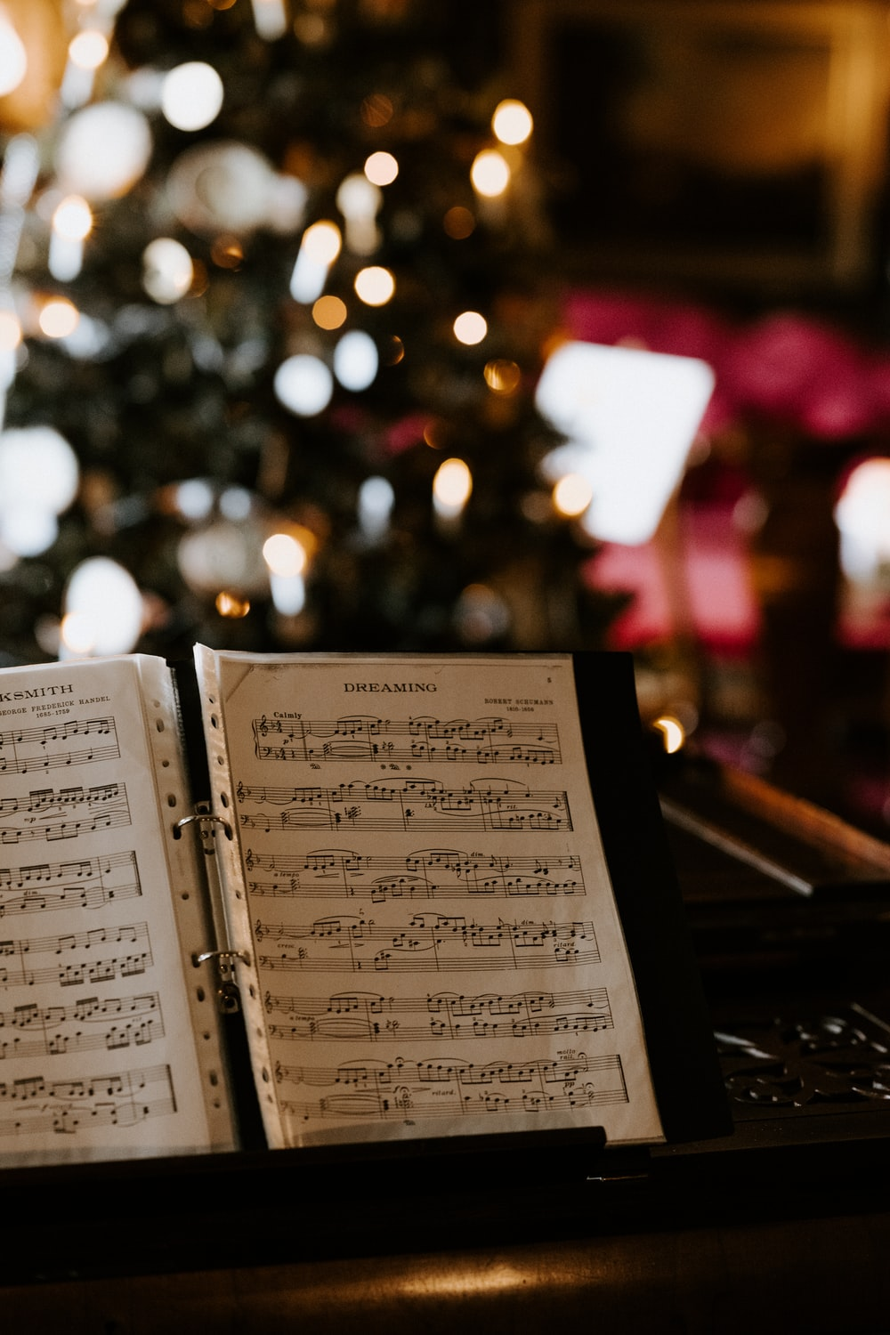 selective focus photo of music note