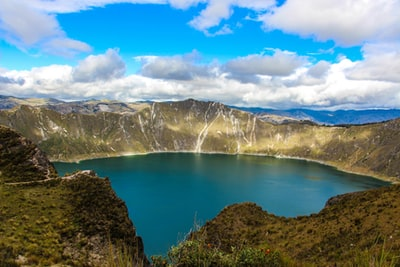 calm lake during cloudy day ecuador zoom background