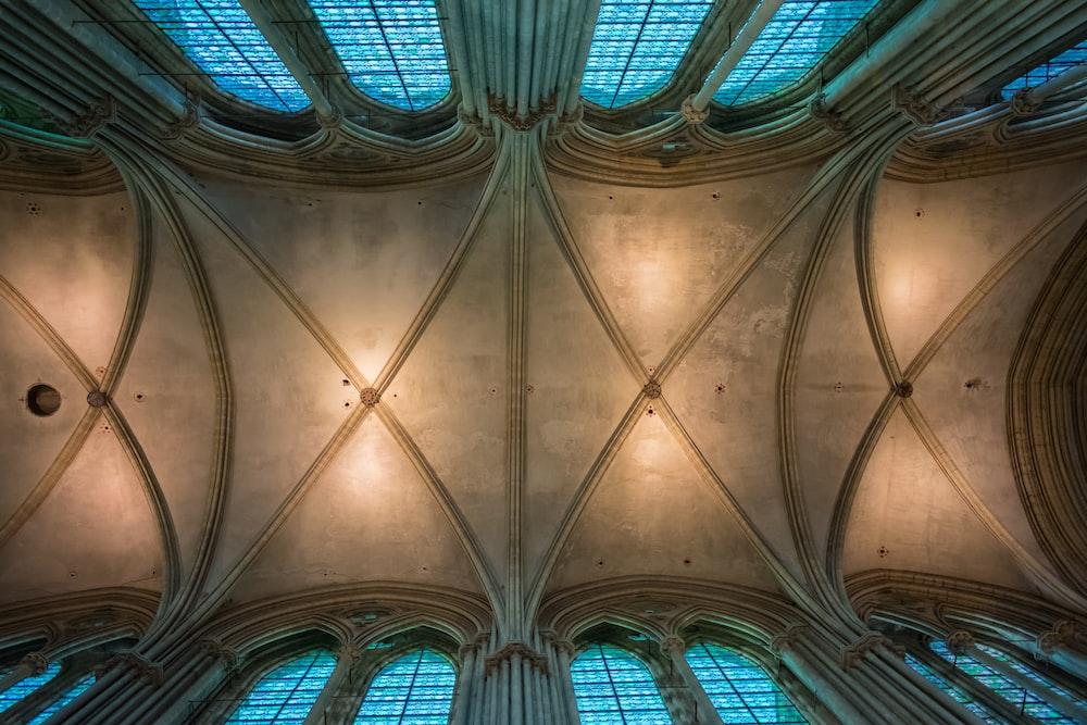 brown concrete building ceiling