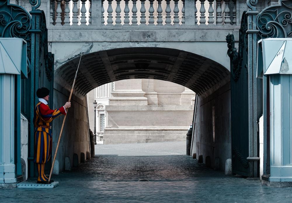 guard in tunnel