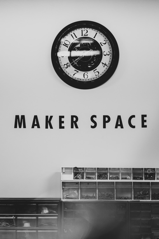 Maker Space signage