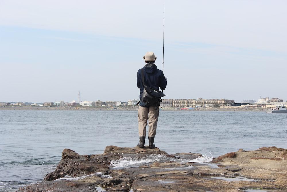 man fishing photograph