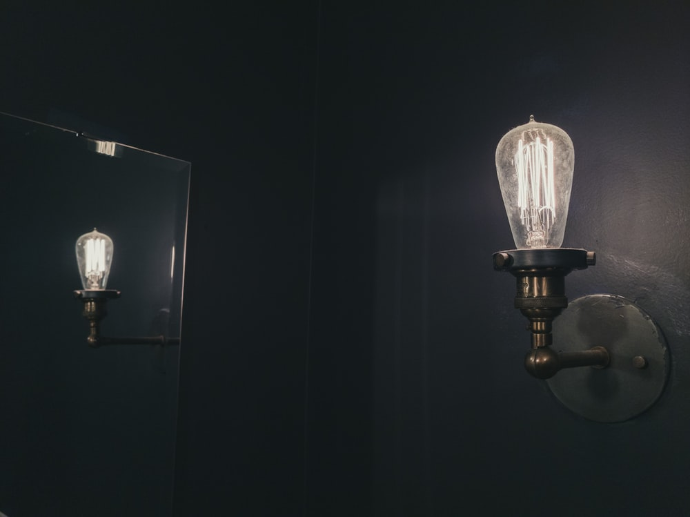 lighted sconce