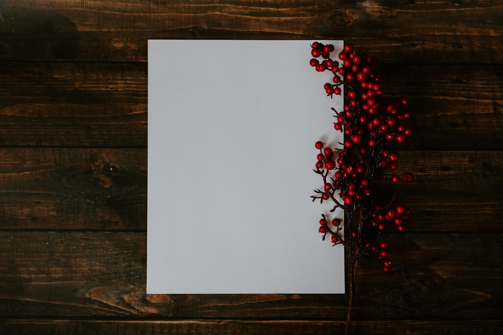 red fruits on white board