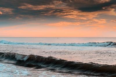 Chennai sea waves crashing on shore