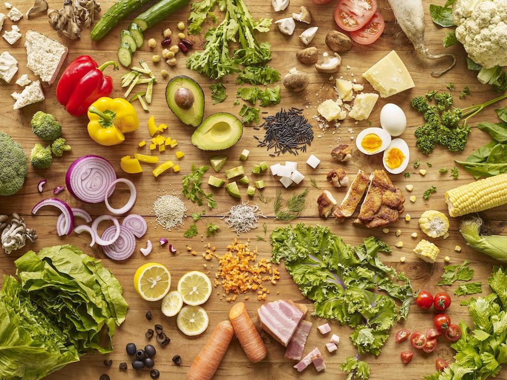 slice ingredients photograph