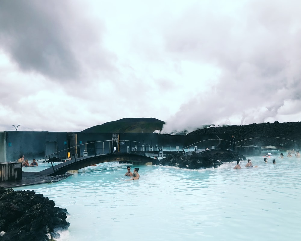 people in blue lagoon Iceland