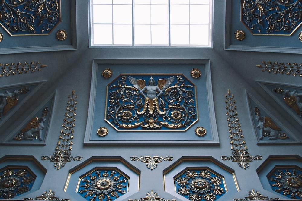 blue buildkng interior