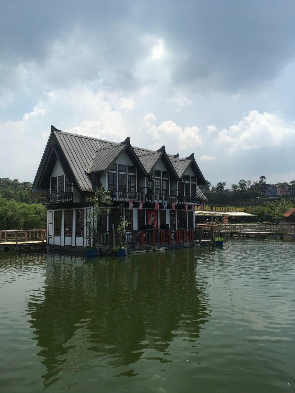 building on dock during day