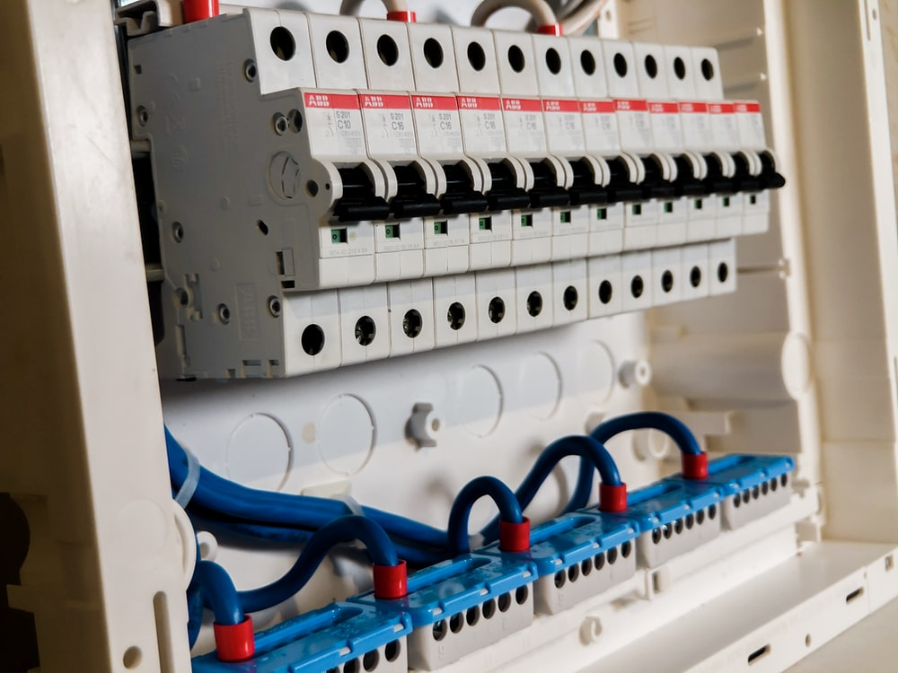 white circuit breakers