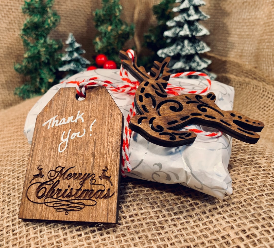 Christmas tags designed by Adam Winger and AwedCreativeUT.
