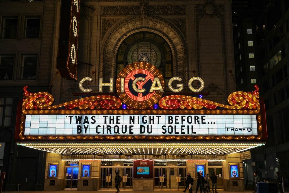 yellow Chicago neon signage