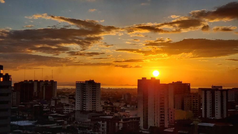 golden hour above buildings