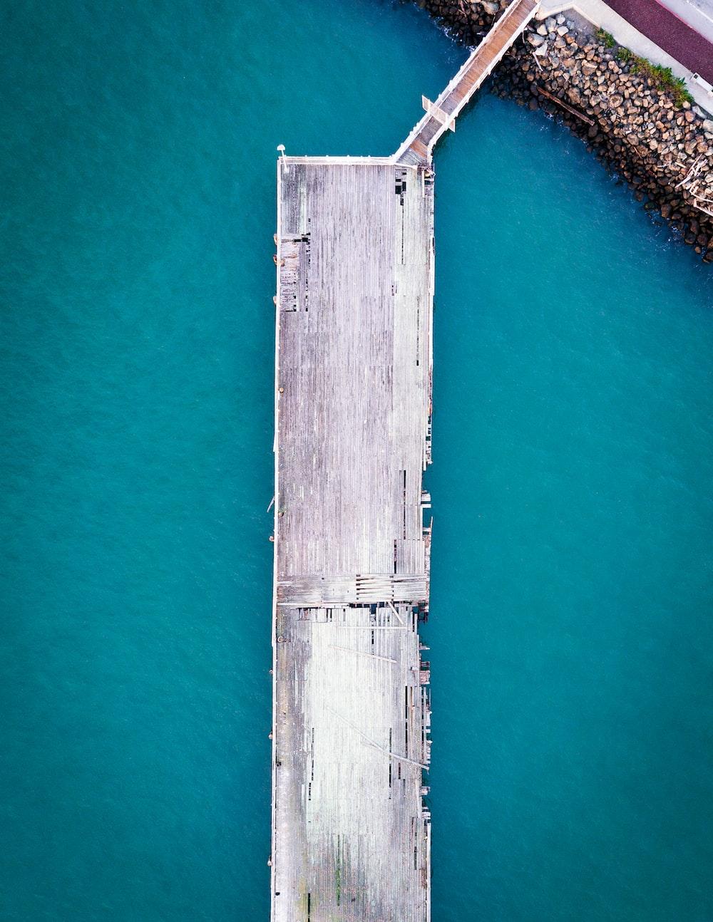 gray wooden port