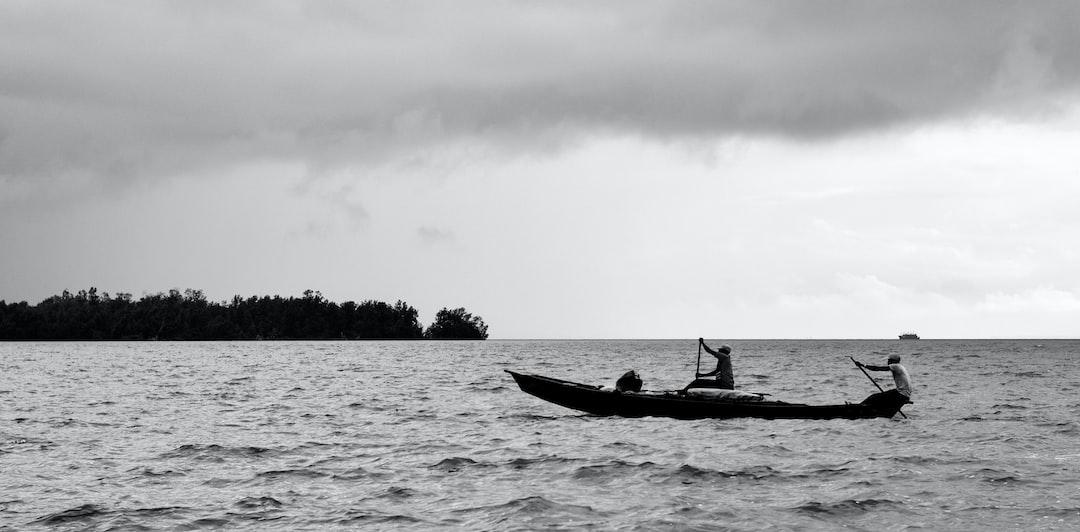 Fishers on Wouri river in Douala