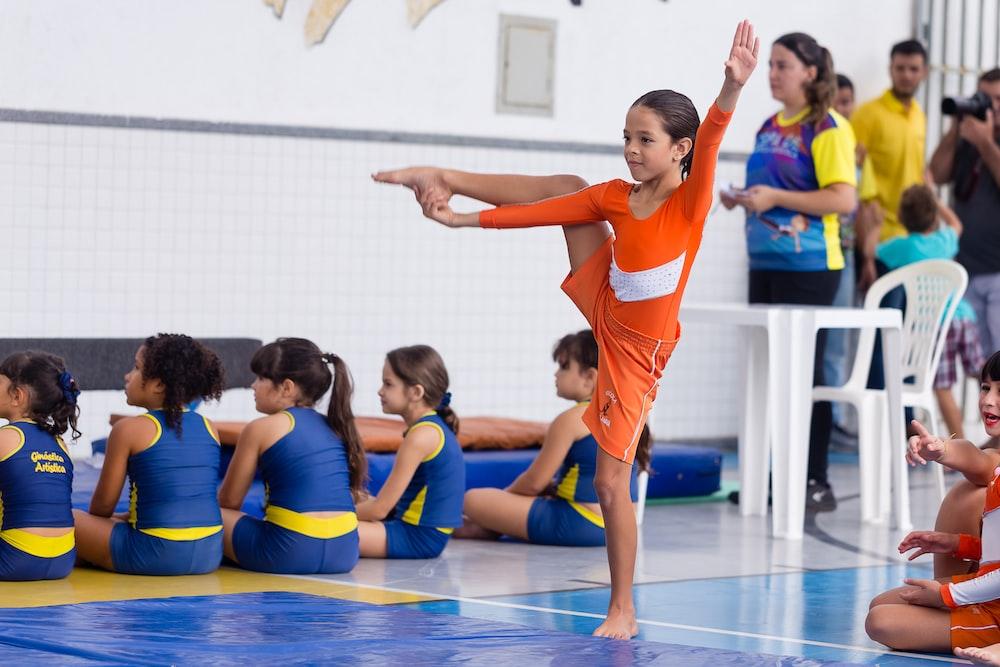 balancing girl