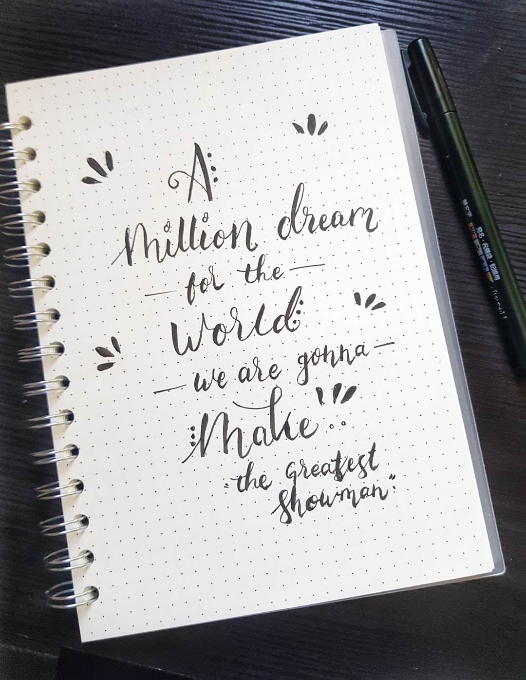 Calligraphy quotes/song