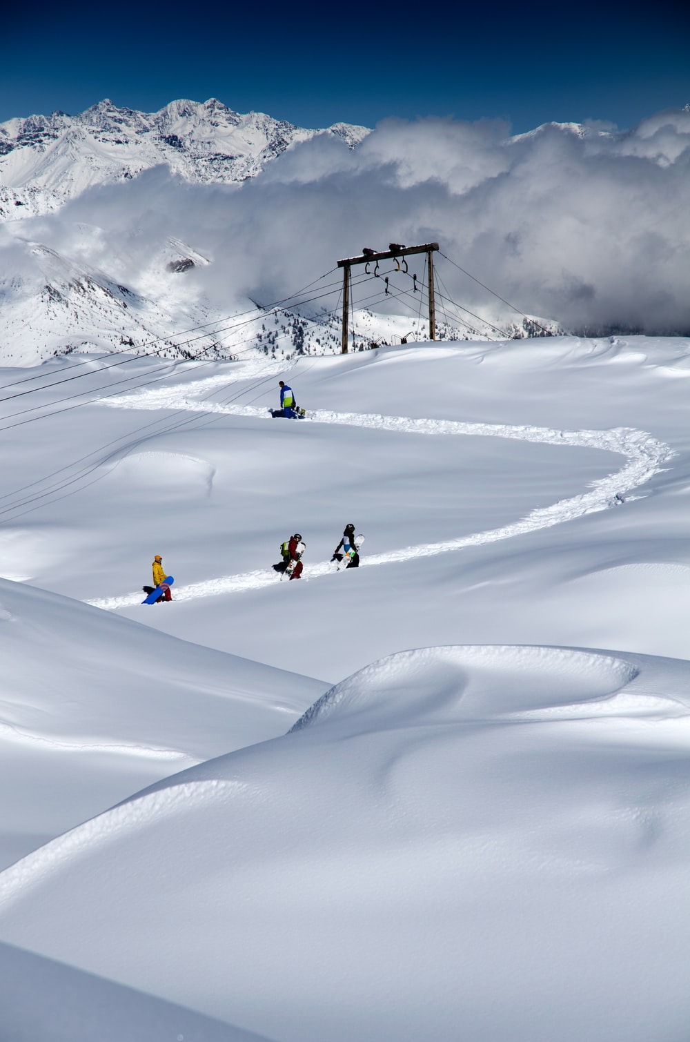 snowy field photograph