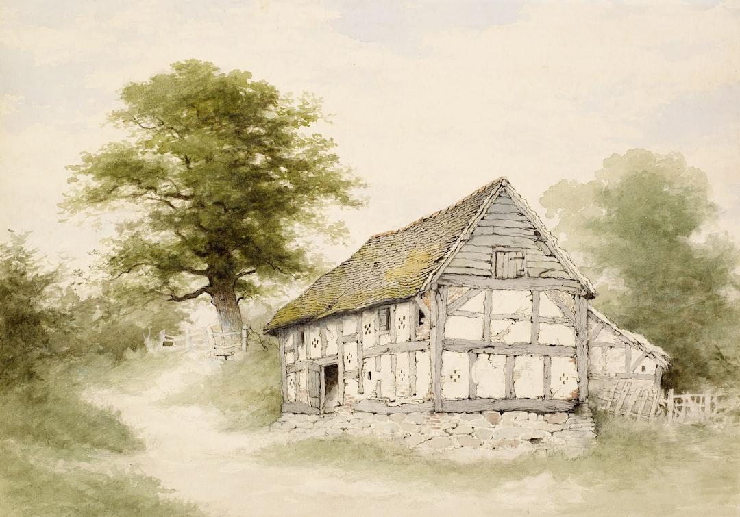 Old Half-Timbered Barn Near Maxstoke, Warwickshire, John Alsop (b. 1829 - d. 1909)