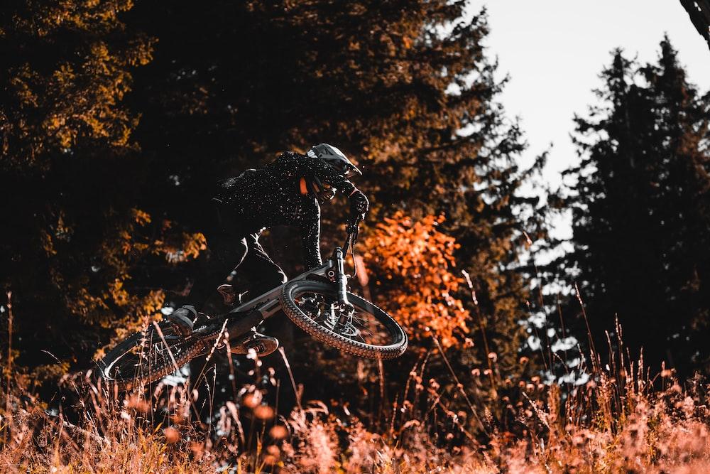 man doing stunts on bike
