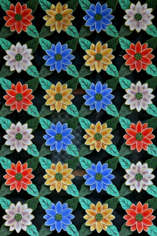 multicolored floral illustration