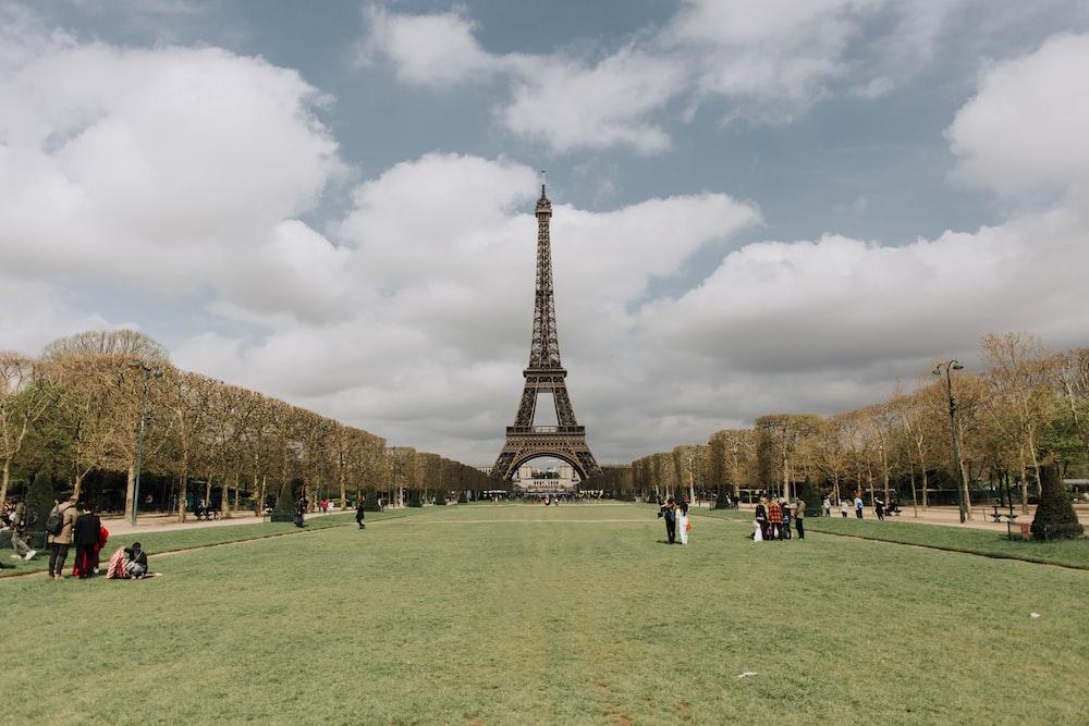 people near Eiffel tower