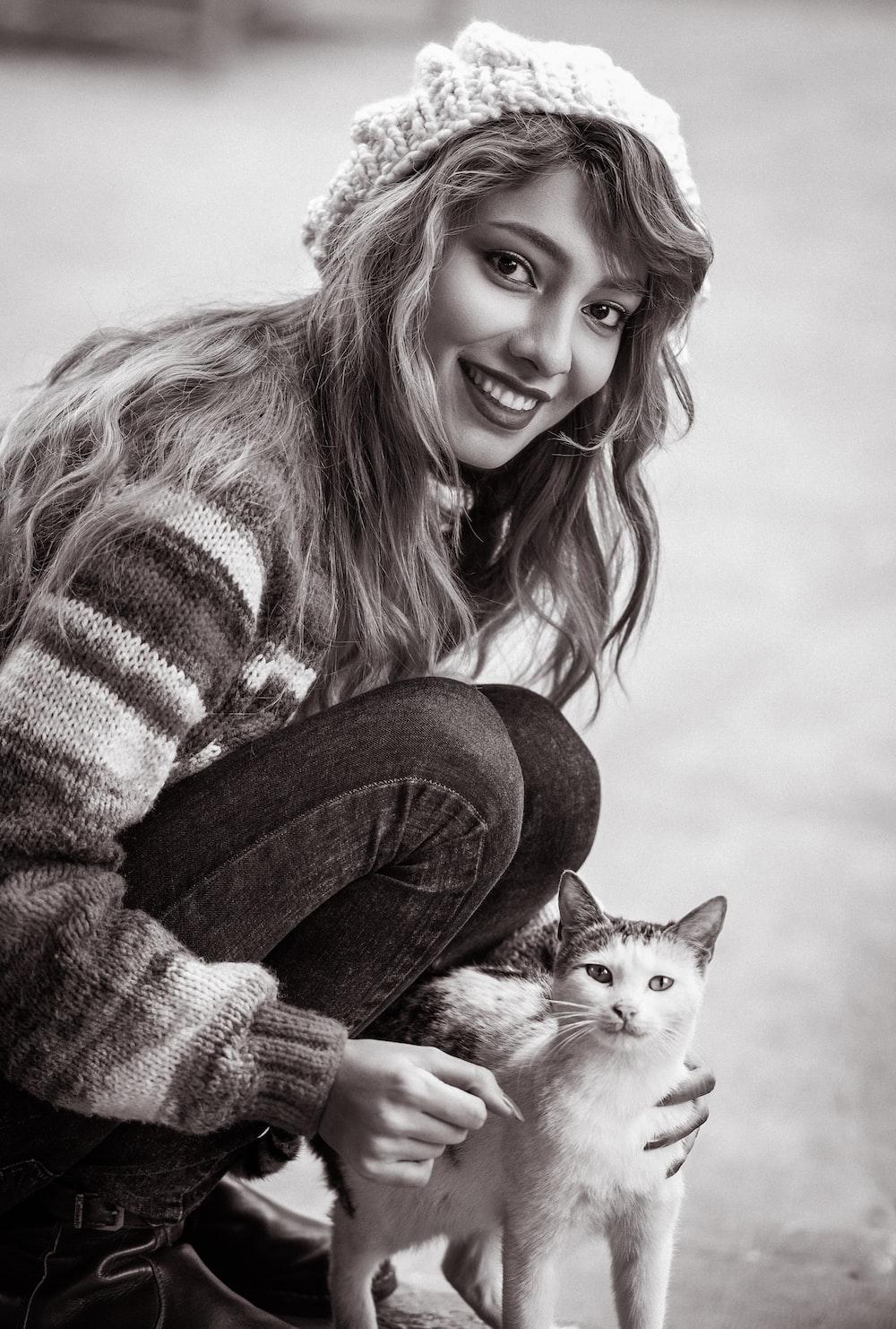 women's white and gray sweater