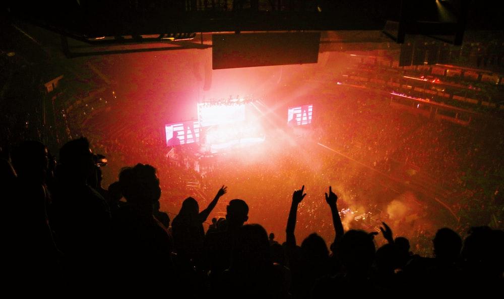 people inside stadium watching concert