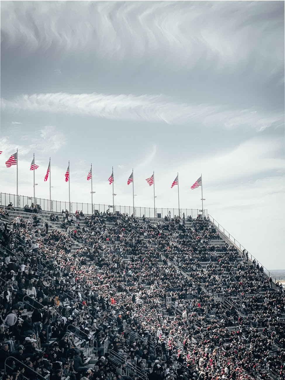a stadium of sport fans in College Station, TX