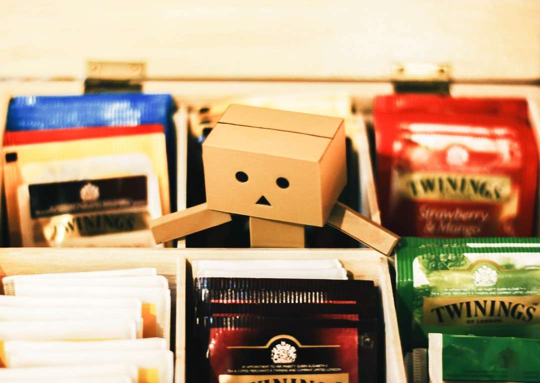 Danbo in a Box of Tea Bags