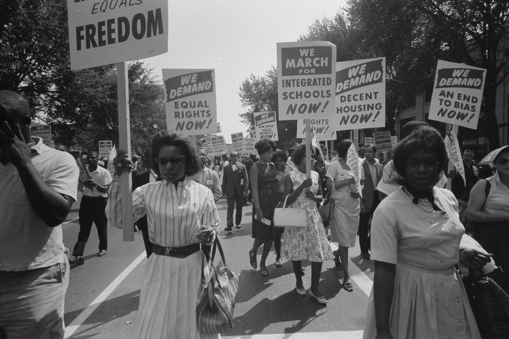 Civil rights march on Washington, D.C