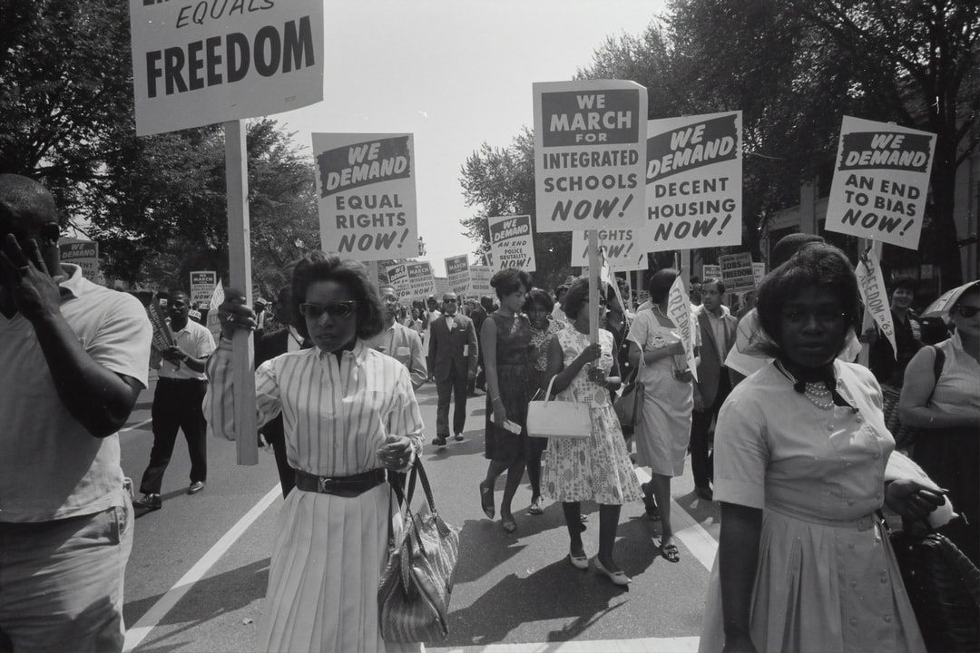 Civil rights march on Washington, D.C. Film negative by photographer Warren K. Leffler, 1963. From the U.S. News & World Report Collection. Library of Congress Prints & Photographs Division. 