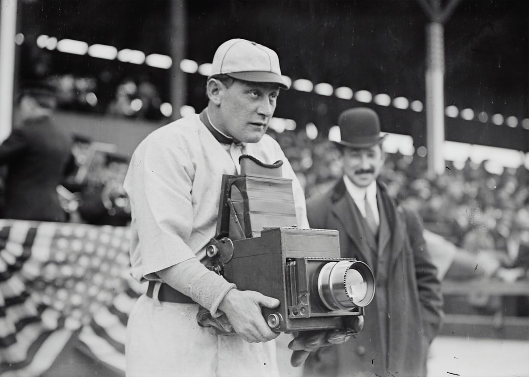[Germany Schaefer, Washington AL (baseball)]. Glass negative from George Grantham Bain Collection, [1911]. Library of Congress Prints & Photographs Division.  Photograph shows Schaefer, one of the most entertaining characters in baseball history, trying out the other side of the camera during the Washington Senators visit to play the New York Highlanders in April, 1911.   https://www.loc.gov/item/2014689117/