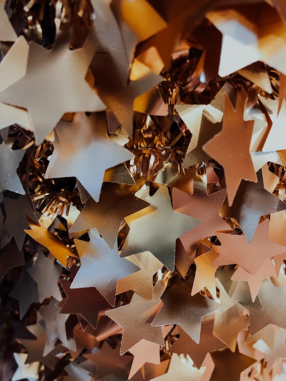 hanging paper stars