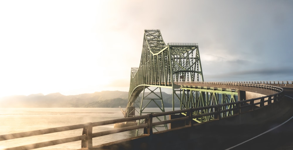 landscape photography of an iron bridge during daytime